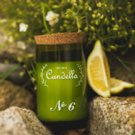 Candella - No 6 # Jasmine & Lemon Candle